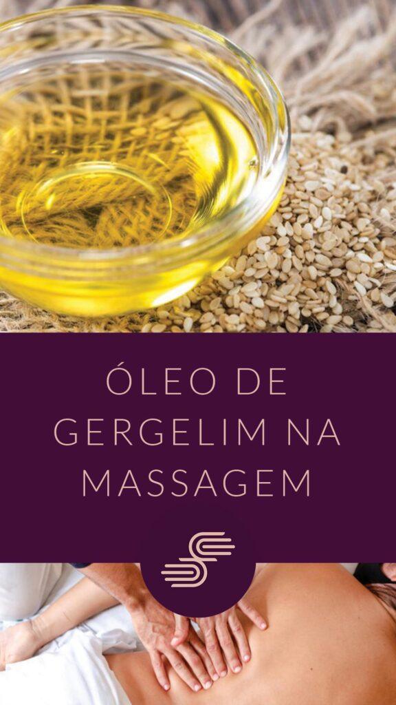 óleo de gergelim na massagem
